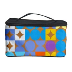 Circles and rhombus pattern Cosmetic Storage Case