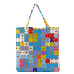 Circles and rhombus pattern Grocery Tote Bag