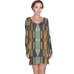 Triangles and other shapes pattern nightdress