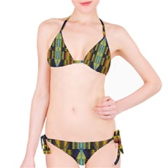 Triangles And Other Shapes Pattern Bikini Set