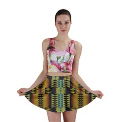 Triangles And Other Shapes Pattern Mini Skirt