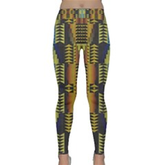 Triangles and other shapes pattern Yoga Leggings