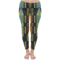 Triangles and other shapes pattern Winter Leggings