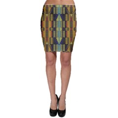 Triangles and other shapes pattern Bodycon Skirt