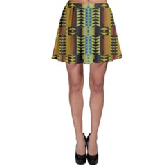 Triangles and other shapes pattern Skater Skirt