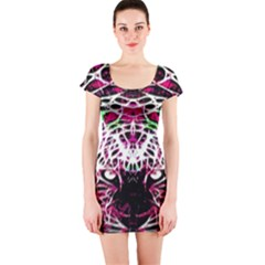 Officially Sexy Panther Collection Pink Short Sleeve Bodycon Dress