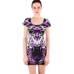 Officially Sexy Panther Collection Purple Short Sleeve Bodycon Dress