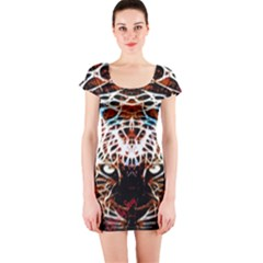 Officially Sexy Panther Collection Red Short Sleeve Bodycon Dress