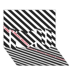 Selina Zebra I Love You 3D Greeting Card (7x5)