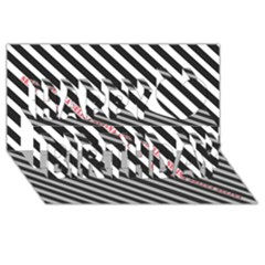 Selina Zebra Happy Birthday 3d Greeting Card (8x4)