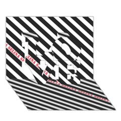 Selina Zebra Love 3d Greeting Card (7x5)