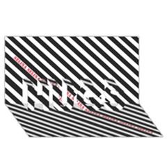 Selina Zebra Hugs 3d Greeting Card (8x4)