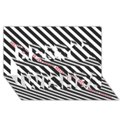 Selina Zebra Best Wish 3d Greeting Card (8x4)