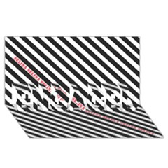 Selina Zebra ENGAGED 3D Greeting Card (8x4)