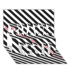 Selina Zebra Thank You 3d Greeting Card (7x5)