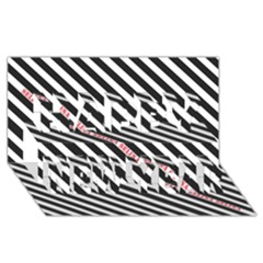 Selina Zebra Happy New Year 3D Greeting Card (8x4)
