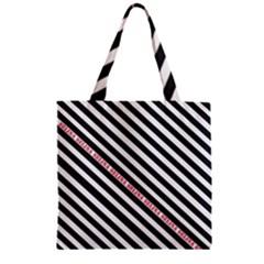 Selina Zebra Zipper Grocery Tote Bags