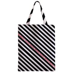 Selina Zebra Zipper Classic Tote Bags