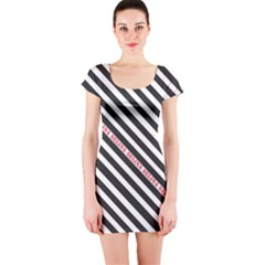 Selina Zebra Short Sleeve Bodycon Dresses