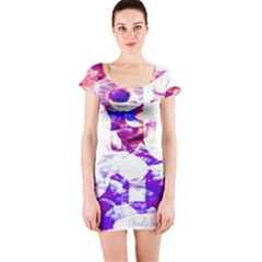 Officially Sexy Candy Collection Purple Short Sleeve Bodycon Dress