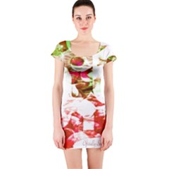 Officially Sexy Candy Collection Red Short Sleeve Bodycon Dress
