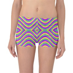 Colored Geometric Boyleg Bikini Bottoms