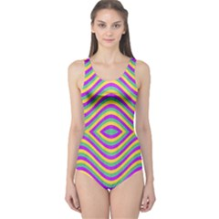 Vintage Geometric Women s One Piece Swimsuits