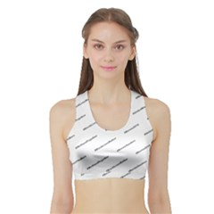 Bernie Hashtags Women s Sports Bra with Border