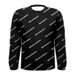 Bernie Hashtags Black Men s Long Sleeve T-shirts