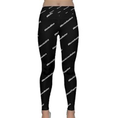 Bernie Hashtags Black Yoga Leggings