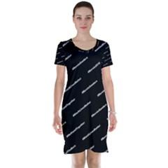 Bernie Hashtags Black Short Sleeve Nightdresses