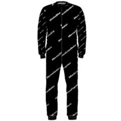 Bernie Hashtags Black OnePiece Jumpsuit (Men)