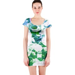Officially Sexy Candy Collection Green Short Sleeve Bodycon Dress