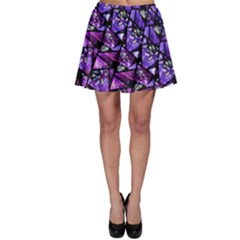 Blue Purple Shattered Glass Skater Skirts