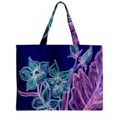 Purple, Pink Aqua Flower style Zipper Tiny Tote Bags
