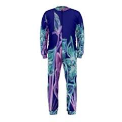 Purple, Pink Aqua Flower Style Onepiece Jumpsuit (kids)