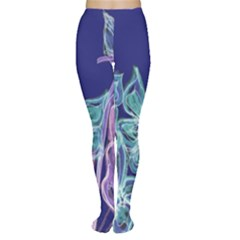 Purple, Pink Aqua Flower style Women s Tights