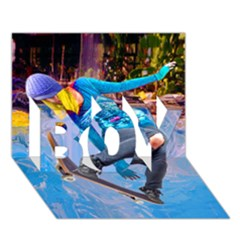 Skateboarding On Water Boy 3d Greeting Card (7x5)