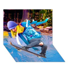 Skateboarding On Water Apple 3d Greeting Card (7x5)