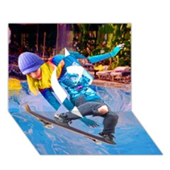 Skateboarding On Water Ribbon 3d Greeting Card (7x5)