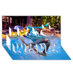 Skateboarding on Water Best Wish 3D Greeting Card (8x4)