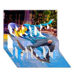 Skateboarding On Water You Did It 3d Greeting Card (7x5)