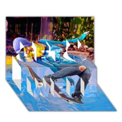 Skateboarding on Water Get Well 3D Greeting Card (7x5)