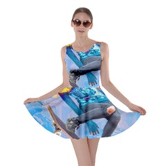 Skateboarding On Water Skater Dresses