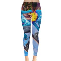 Skateboarding on Water Women s Leggings