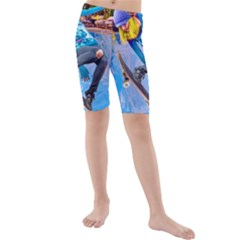 Skateboarding on Water Kid s swimwear