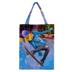 Skateboarding on Water Classic Tote Bags