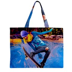 Skateboarding On Water Zipper Tiny Tote Bags