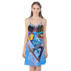 Skateboarding On Water Camis Nightgown