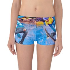 Skateboarding on Water Reversible Boyleg Bikini Bottoms